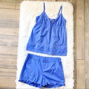 Other - Kristin Davis Pajamas Set Two Piece Set Chambray